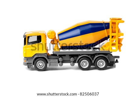 toy truck isolated over white background - stock photo