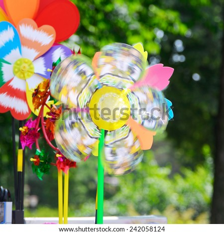 toy windmill - stock photo