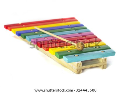 Toy xylophone - stock photo
