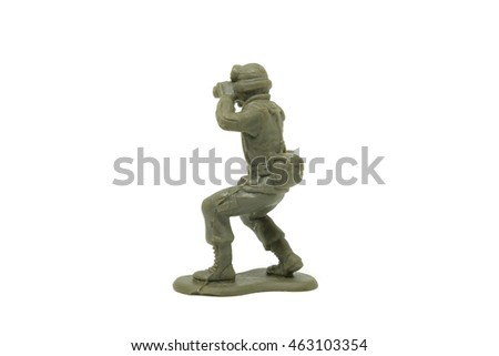 toys soldiers on white background