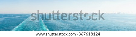 Trace of a ship - stock photo