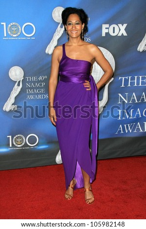 Tracee Ellis Ross at the 40th NAACP Image Awards. Shrine Auditorium, Los Angeles, CA. 02-12-09