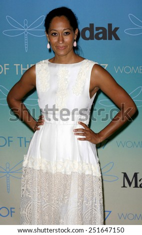 Tracee Ellis Ross attends Women In Film Presents The 2007 Crystal and Lucy Awards held at the Beverly Hilton Hotel in Beverly Hills, California, California, on June 14, 2006.  - stock photo