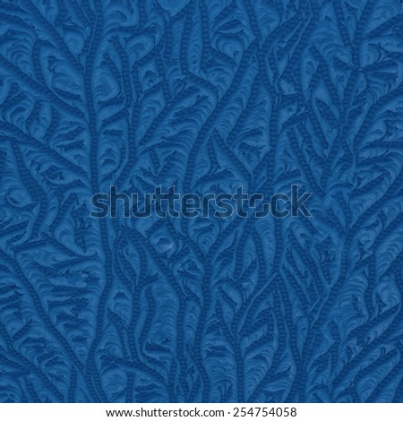 Tracery on a frosted window - stock photo