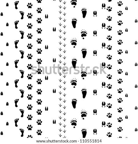 Traces - stock photo