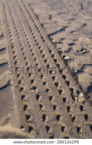 Traces - stock photo