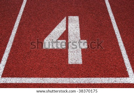 Track and field lane 4