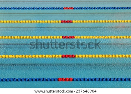 Track field for race,Swimming pool - stock photo