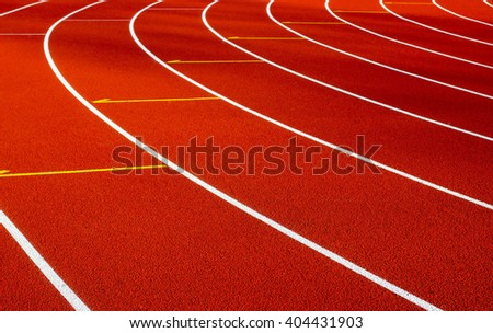 Track for running in the stadium