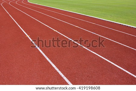 Track for running in the stadium.for background usage. - stock photo