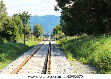 Track straight ahead trough a beautiful panorama landscape, Allgäu, Bavaria