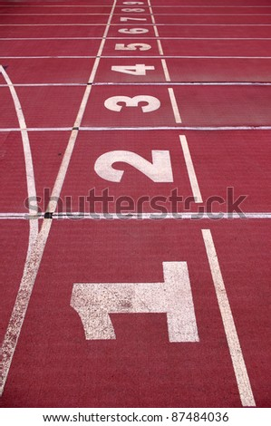Track the number of - stock photo