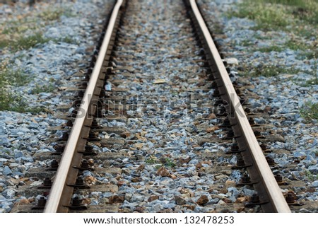 Tracks made ??of steel and wood.
