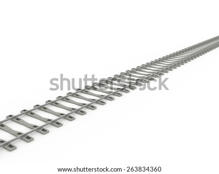 Tracks on a white background.  - stock photo