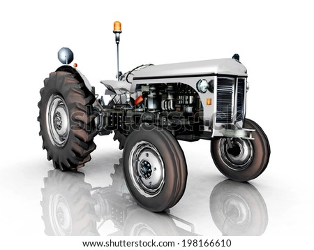 Tractor Computer generated 3D illustration