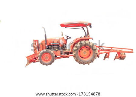 Tractor for tillage farming.  - stock photo