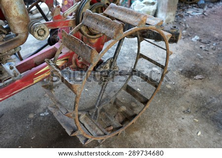 tractor in Thailand closeup  - stock photo