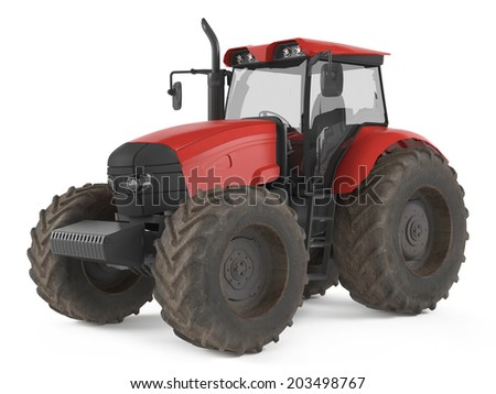 Tractor isolated.