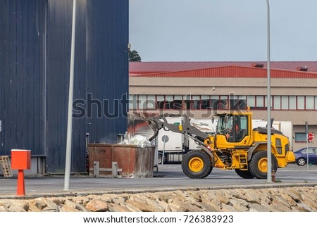 tractor loading materials