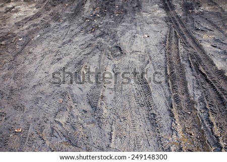 Tractor or Car Mud Dirt Track Background - stock photo