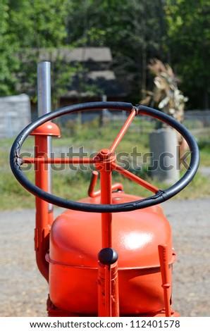 Tractor Steering - stock photo