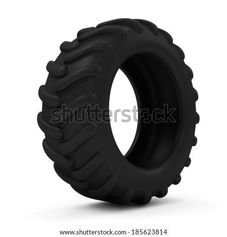 Tractor Tire isolated on white background - stock photo
