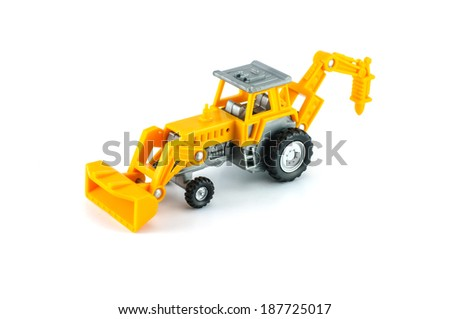 tractor toy in yellow color