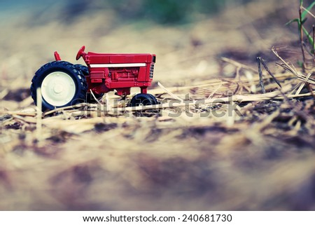 tractor toy model - stock photo