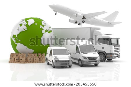 Trade between Europe and America - Transportation - stock photo