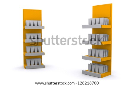 Trade exhibition stand display. - stock photo