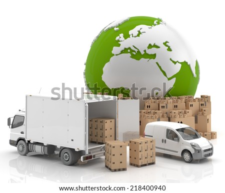 Trade in Europe - Transportation - stock photo