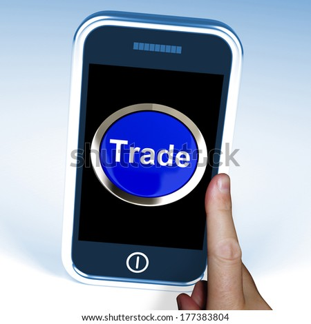 Trade In Word Showing Cloud Online Buying And Selling
