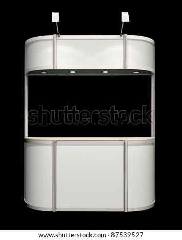 trade or promo counter - stock photo