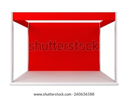 Trade show booth. 3d illustration isolated on white background  - stock photo