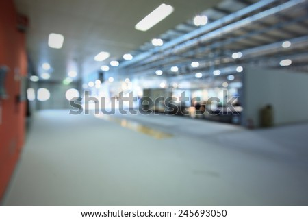 Trade show interiors generic background. Intentionally blurred post production. - stock photo