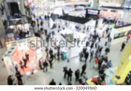 Trade show view, generic background, intentionally blurred post production.