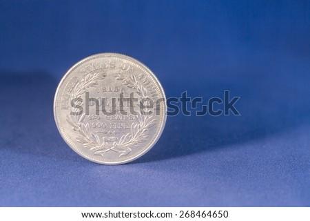Trade silver dollar coin - stock photo
