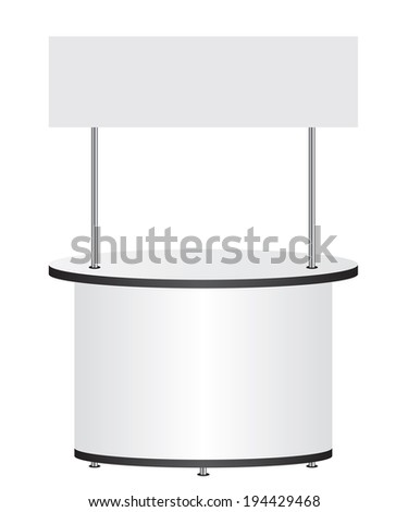Trade stand - stock photo