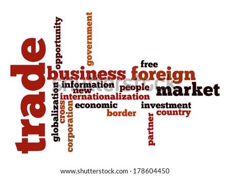 Trade word cloud - stock photo