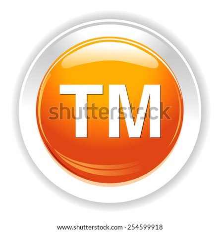 trademark button - stock photo