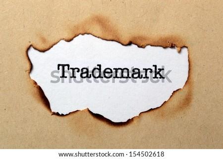Trademark concept - stock photo