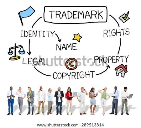 Trademark Copyright Identity Branding Product Concept - stock photo