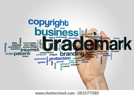 Trademark word cloud - stock photo