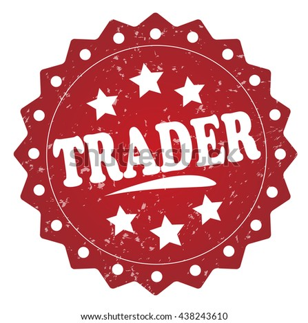 trader grunge stamp - stock photo