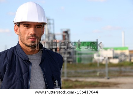 Tradesman at work - stock photo