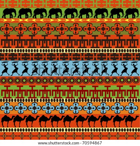 Traditional African pattern - stock photo