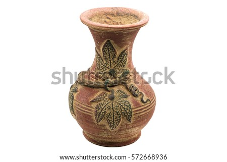 Traditional Ancient Vase Isolated On White Stock Photo Royalty Free