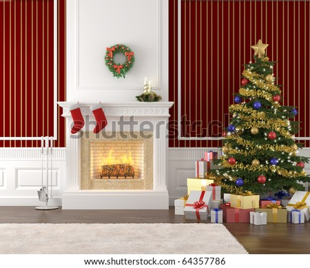 Christmas Fireplace Stock Images, Royalty-Free Images & Vectors ...
