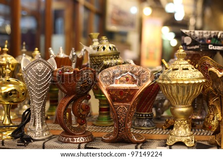 Traditional Arabic incense burner in Doha, Qatar - stock photo