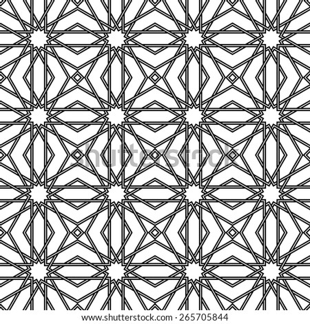 Traditional arabic tangled pattern. Islam pattern. Seamless background. Raster version. - stock photo